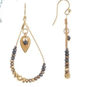 Chan Luu Sterling Silver Beaded Teardrop Earrings